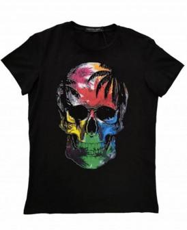 Tee Shirt noir imprimé tête...