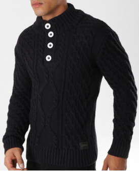 Pull homme noir chaud...