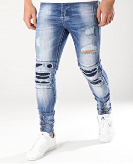 Jeans Skinny délavé, usé et...
