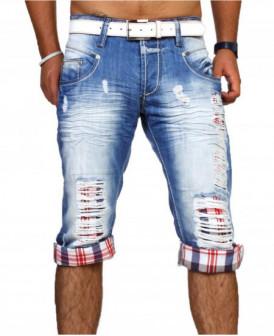 pantacourt en jean destroy...