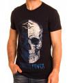 T-Shirt noir imprimé tête...