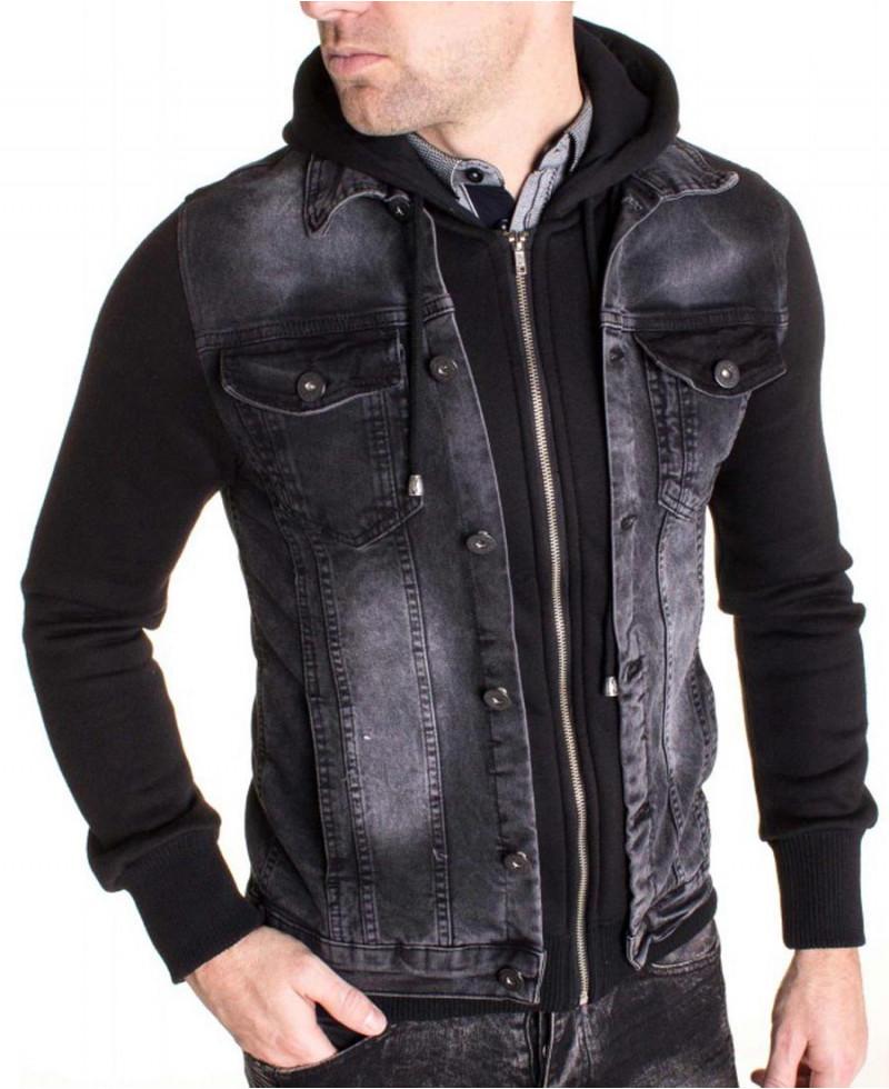 Veste Jeans Denim Jeans Veste avec capuche veste sweat shirt