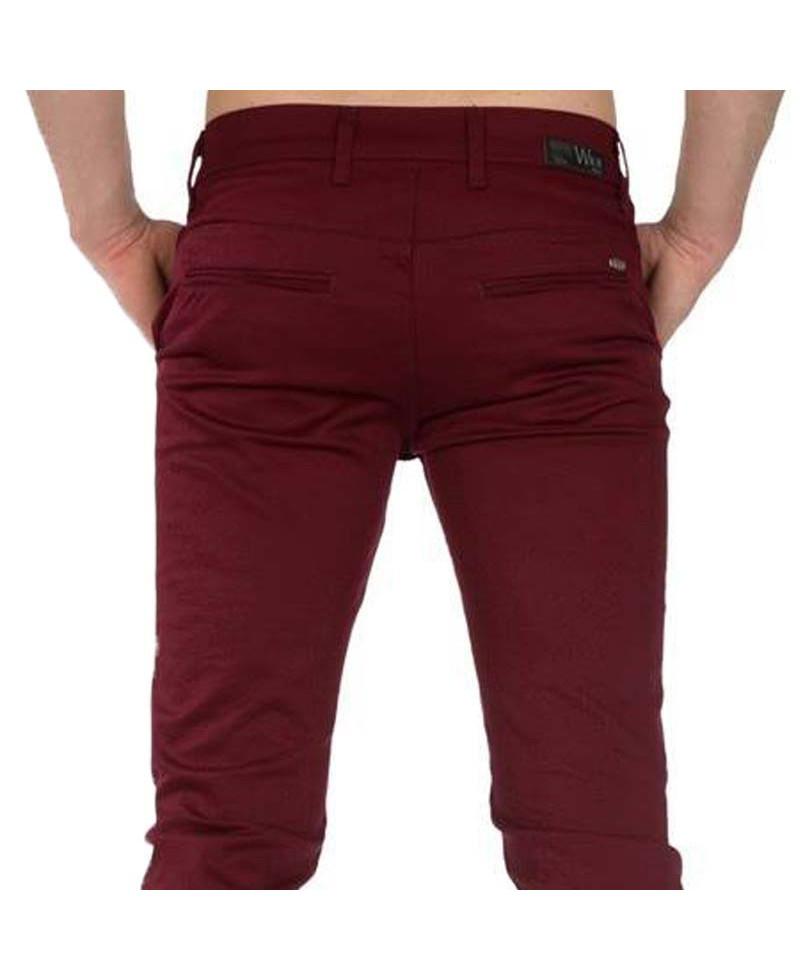 prix raisonnable aliexpress paquet à la mode et attrayant pantalon chino homme coloris bordeaux