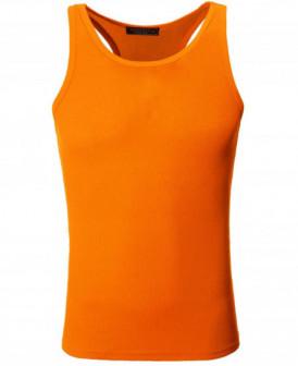 Débardeur orange pour homme...