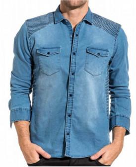 chemise bleu aspect jeans