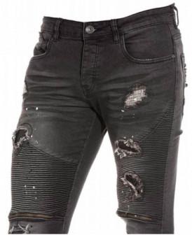 Jeans slim noir gris troués...
