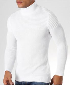 Col roulé Blanc pour homme