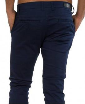 Pantalon chino Bleu gitane