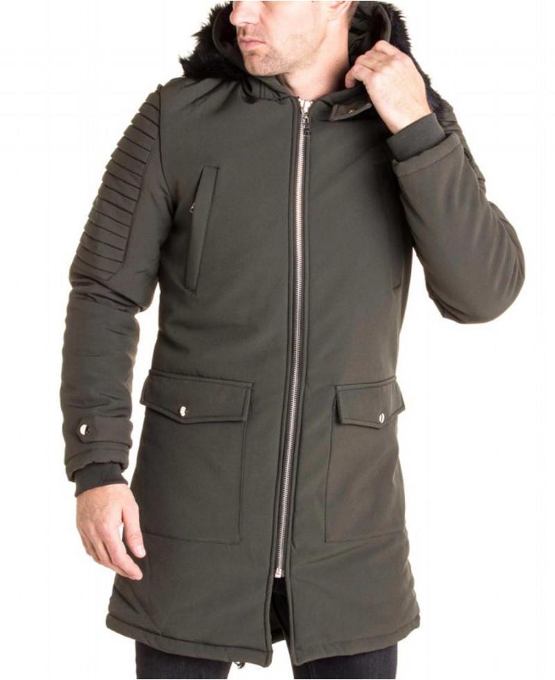 Manteau doudoune longue pour homme
