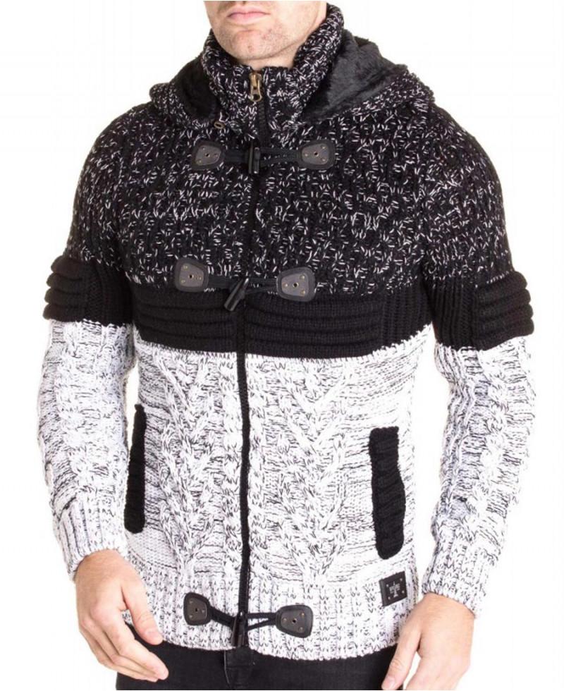 reputable site shop innovative design gilet fourré pour homme avec capuche