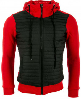Vestes sweats zippés rouge...