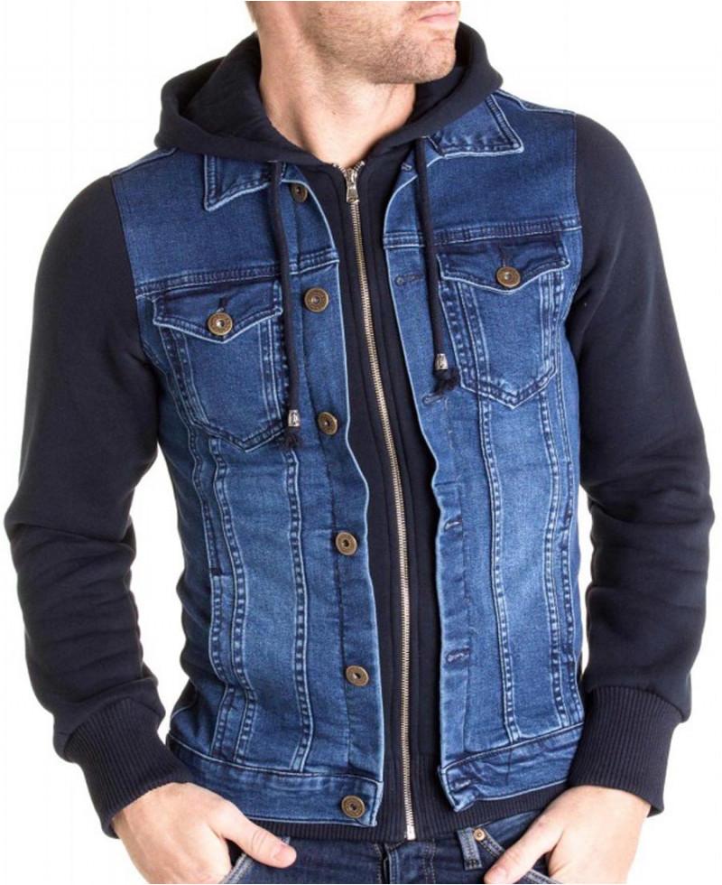 Jeans Avec Intégré Homme Pour En Veste Capuche 5gFU6qnIw